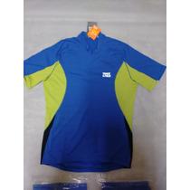 Camisa Curta Bike Track Field Azul/lima Ref 0527 Uvtech 50+