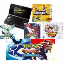 Nintendo 3ds + 15 Jogos Originais + Caneta Stylus + 16gb