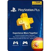 Tarjeta Gift Card Playstation Plus España 12 Meses Ps3 Ps4