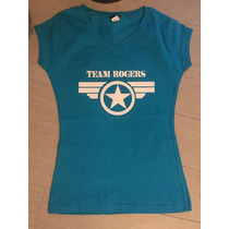 Playera Civil War Team Rogers Capitan America