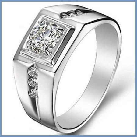 V I P+ Anillo Mod. Executive Platino + Diamante .50ct