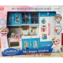 Kit Cozinha Infantil Com Luz E Som Anna E Elsa Febre Frozen