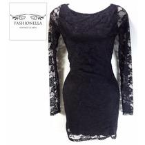 Vestido Encajes Shasa -fashionella- S T9y1 T9y0 T9y2