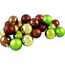 Esfera Navideña 30 Pzas Decorativas Adorno Navidad Plástico