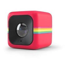Polaroid Cube + 1440p Mini Camara Con Wifi En Rojo