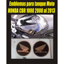 Emblemas De Resina Tanque Moto Honda Cbr 1000 2008 Al 2013
