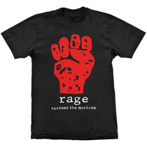 Camiseta Rage Against The Machine Hand Stamp