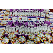 Candy Bar Angry Birds En Violeta P/30 Chicos/90 Golosinas!