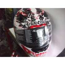 Casco Integral All Top 95 C/graficos Blanco Y Rojo