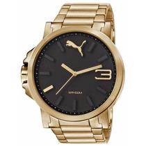 Relógio Puma Dourado Masculino Aço *original* Envio Imediato