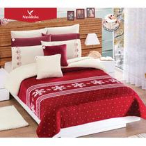 Cobertor Concord Borrega Navideño Individual / Matrimonial