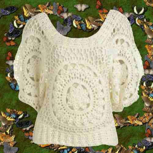 Chaleco Crochet Tejido Primavera Otoño Invierno -   460 4e8fb1293e25