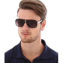 Óculos De Sol Preto Estilo Aviador Monte Carlo