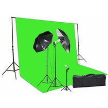Pantalla Verde Fancier Chromakey Green Screen Kit 1000 Watt