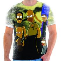Camiseta Camisa The Walking Dead Simpson Homer Bart Moda 09