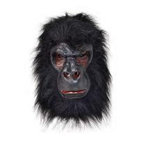 Disfraz De Gorila - Máscara De Goma Con Pelo Negro