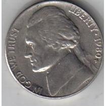 Estados Unidos Moneda De 5 Cents Año 1980 D !!!!