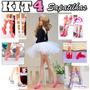 Kit C/ 4 Sapatilhas Ballet P/ Boneca Barbie Bailarina Sapato