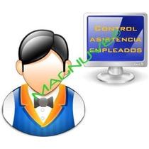 Software Control Asistencia Personal Empleados Huella Numero