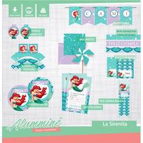 Kit Imprimible La Sirenita
