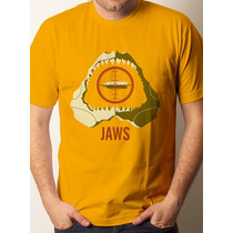 Camiseta Filme Tubarão - 100% Algodão