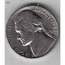 Estados Unidos Moneda De 5 Cents Año 1988 D !!