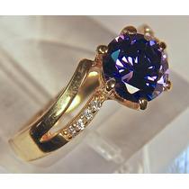 Rsp J3360 Anel Prata 925 A Ouro Tanzanita Brilhantes Frete G