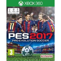 Pes 2017 Xbox 360 Mídia Física Novo Lacrado Original Pt Br