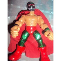Figura Luchador Mexicano Mil Mascaras Tiburon Muñeco Patones