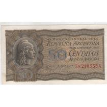 Billete Argentina C 50 1950 Botero 1901a S/c
