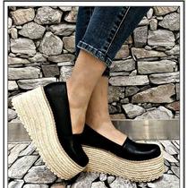 Zapatos Zapatillas Mujer Plataforma Alta Simil Yute Colores