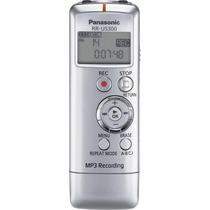 Mini Gravador Voz Panasonic Rr-us300 C/ 2gb Mp3 Usb Prata