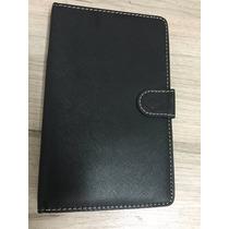 Capa Teclado P/ Tablet 7 Polegadas Entrada V8 Preta Nova