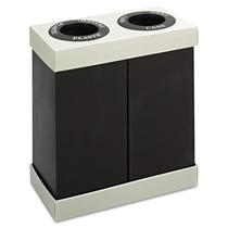Safco Depósito Doble Centro De Reciclaje, Negro, 9794bl