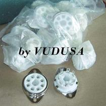 Zócalo Octal (8 Contactos) Cerámicos P/ 6l6 6v6 El34 6sn7
