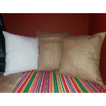Almohadones Arpillera 30 X 30 Sublimar Decorar Estampar