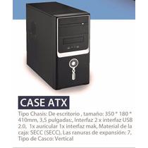 Case Para Pc Atx - Chasis 2 Usb 1 Audio 1 Mic