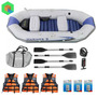 Bote Inflable Mariner 3 + 4 Remos + 3 Chalecos + 3 Parches