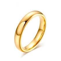 Par Alianças Tungstênio Fina 4mm Banhada A Ouro Com Garantia