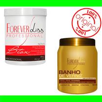 Kit Botox Capilar Argan Oil E Banho De Verniz Forever Liss