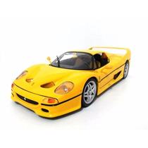Miniatura Maisto Metal 1:18 Ferrari F50 Amarela Kit Montar