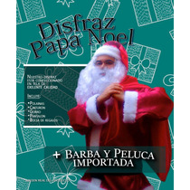 Disfraz Papá Noel Con Barba Y Peluca!