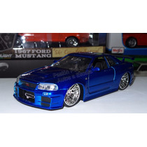1:24 Nissan Skyline Azul Brian Rapido Y Furioso Jada Display