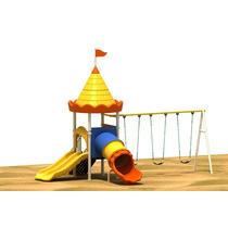 Parque Infantil Niños Intemperie Plastico Y Metal