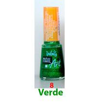 Pintura De Uñas Valmy Nail Art Verde Escarchado