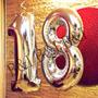 Balão Metalizado Números Grande 72/75 Cm (18 Prata)