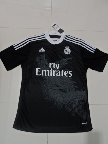 Jersey adidas Del Real Madrid Tercer Uniforme Negro 2014-15 ... 0fedbe23e831b