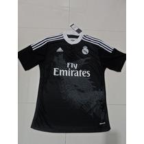 Jersey Adidas Del Real Madrid Tercer Uniforme Negro 2014-15