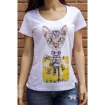 Camiseta Ksa Da Árvore Grafite O Gato