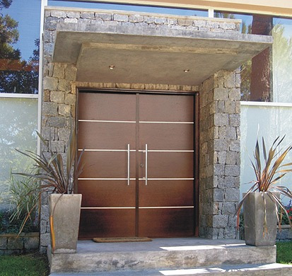 Porton puerta doble madera oblak moderna 1283 160cm Puertas corredizas hierro